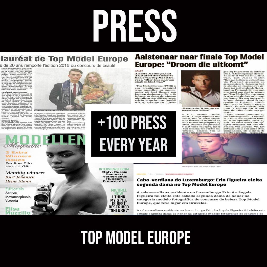TOP MODEL EUROPE - PRESS